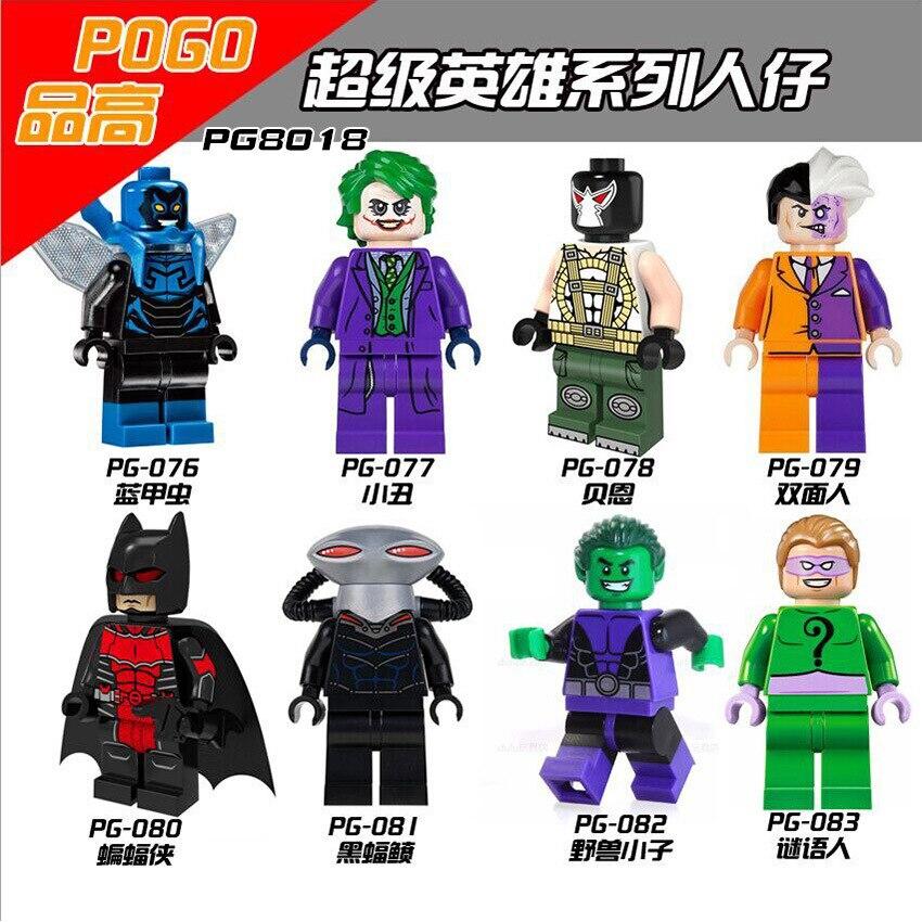 PG8018 August Newest SDCC Marvel DC Minifigures Super Heroes Villains Scorpion Sandman Hobgoblin Stan Lee Blocks