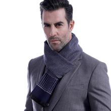 Fashion Men Striped Winter Scarf Europe Scarves Male Plaid Warm Tartan Scarf Business Sjaal Wraps Shawl Foulard Bufanda