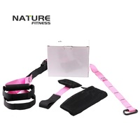 New Pink Color Sport Resistance Bands Strength Training Fitness Equipment Spring Exerciser Suspension Hanging Training Strap