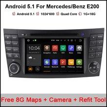 5.1.1 Android Coches Reproductor de DVD GPS Para Mercedes/Benz E200 E220 E240 E270 E280 E320 E350 CLK W209 W211 W219 W463 Con wifi 3G de Radio