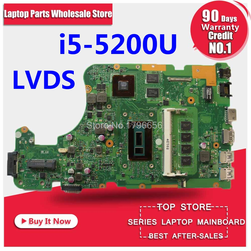 for ASUS X555LD X555LP X555LJ X555LDB X555LB X555LN X555LF X555L I5 motherboard for laptop tested 100% work Original motherboard original interface for asus x555ld a555l x555lj x555lb x555lp x555ln x556u interface on hdd board and on motherboard