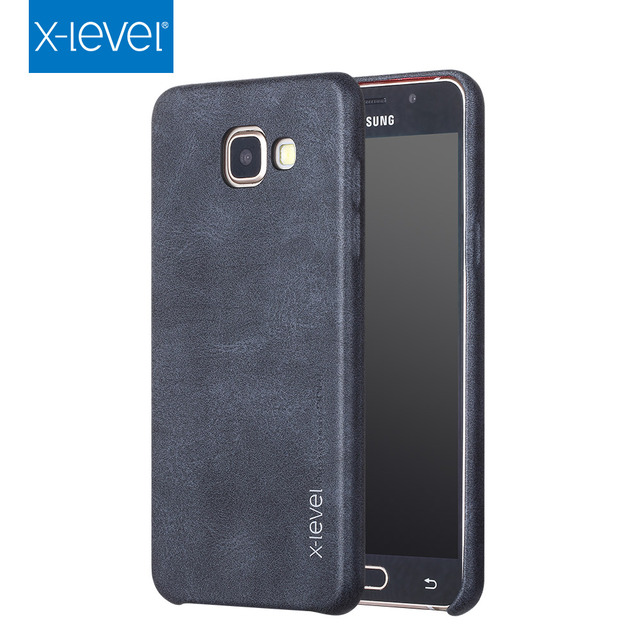 uk availability 7faa8 cb639 US $8.22 |X Level Luxury Retro PU Leather Case For Samsung Galaxy A5 2016  A510 Back Cover For Samsung A5 6/A510F/A510M/A510FD Capa-in Fitted Cases ...