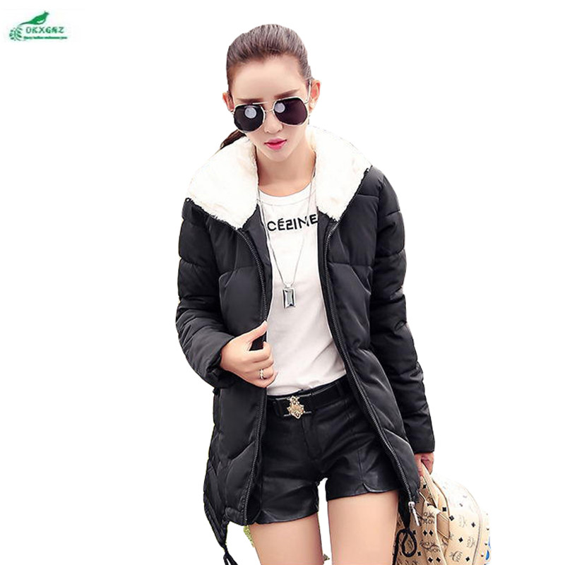 European winter new feather cotton Outerwear women Slim cotton clothing medium long hooded thickened cotton coat OKXGNZ AF01 plug elbow right angle 3 5mm male to female audio connector 90 degree adapter gold plated free shipping