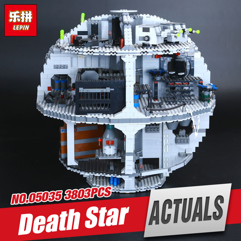 LEPIN 05035 Star Wars NEW Death Star Model 3803pcs Building Block Bricks Toys Kits Compatible Children Gifts 10188 new lepin 22001 1717pcs pirate ship imperial warships model building kits block briks toys for children gifts compatible 10210