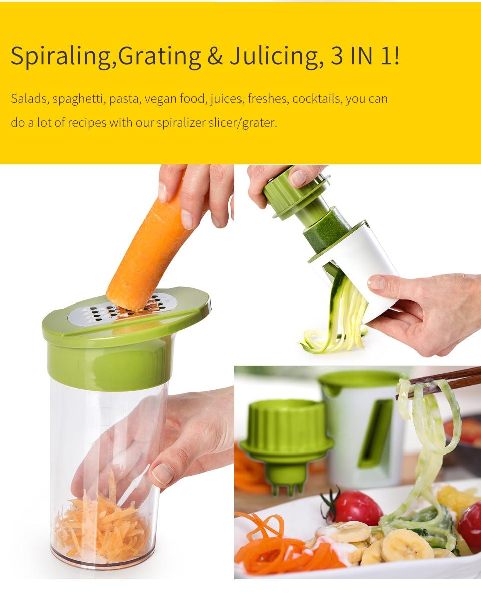 Fullstar vegetal espiral slicer cortador vegetal spiralizer
