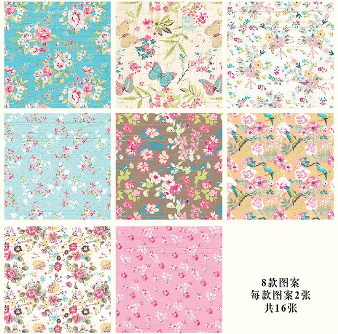 16 sheets of mini gift pattern wrapping paper book 8 designs flower 16 sheets of mini gift pattern wrapping paper book 8 designs flower gift wrap paper kit in craft paper from home garden on aliexpress alibaba group mightylinksfo