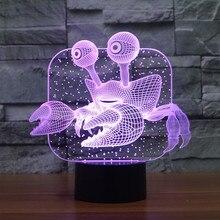 Novelty 3D LED Effect Ocean Animal Crab Shape Lamp Light for House Decorations