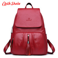 New Fashion Women Backpack Youth Vintage Leather Backpacks For Teenage Girls New Female School Bag Bagpack