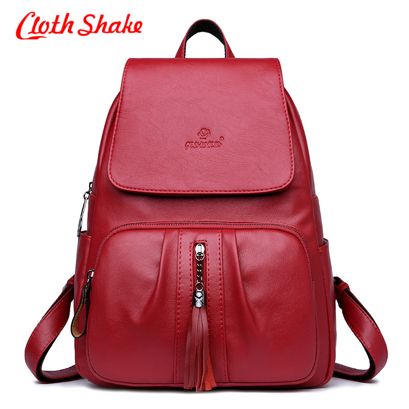 New Fashion Women Backpack Youth Vintage Leather Backpacks For Teenage Girls New Female School Bag Bagpack Mochila Sac A Dos fashion vintage backpack women youth school shoulder bag male nylon backpacks for teenager girls feminine backpack sac a dos