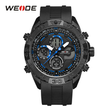 WEIDE luxury Style men quartz sports wrist watches casual genuine digital Calendar Repeater silicon Band military analog clock weide wh1107 sports man s rubber band quartz analog digital waterproof wrist watch black