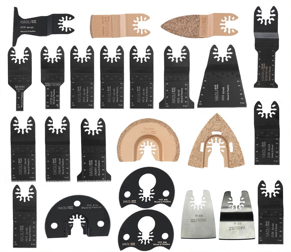 24 pc quick change oscillating tool saw blade accessories for electric tool as FEIN multimaster,home DIY power tool,high quality wavelets as a tool to approach power quality