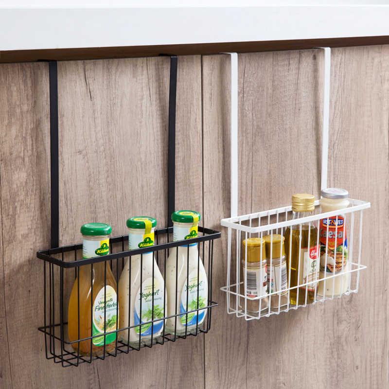 Wrought iron lengthened storage basket Kitchen Hanging rack Bathroom  cabinet Hanging basket Storage basket