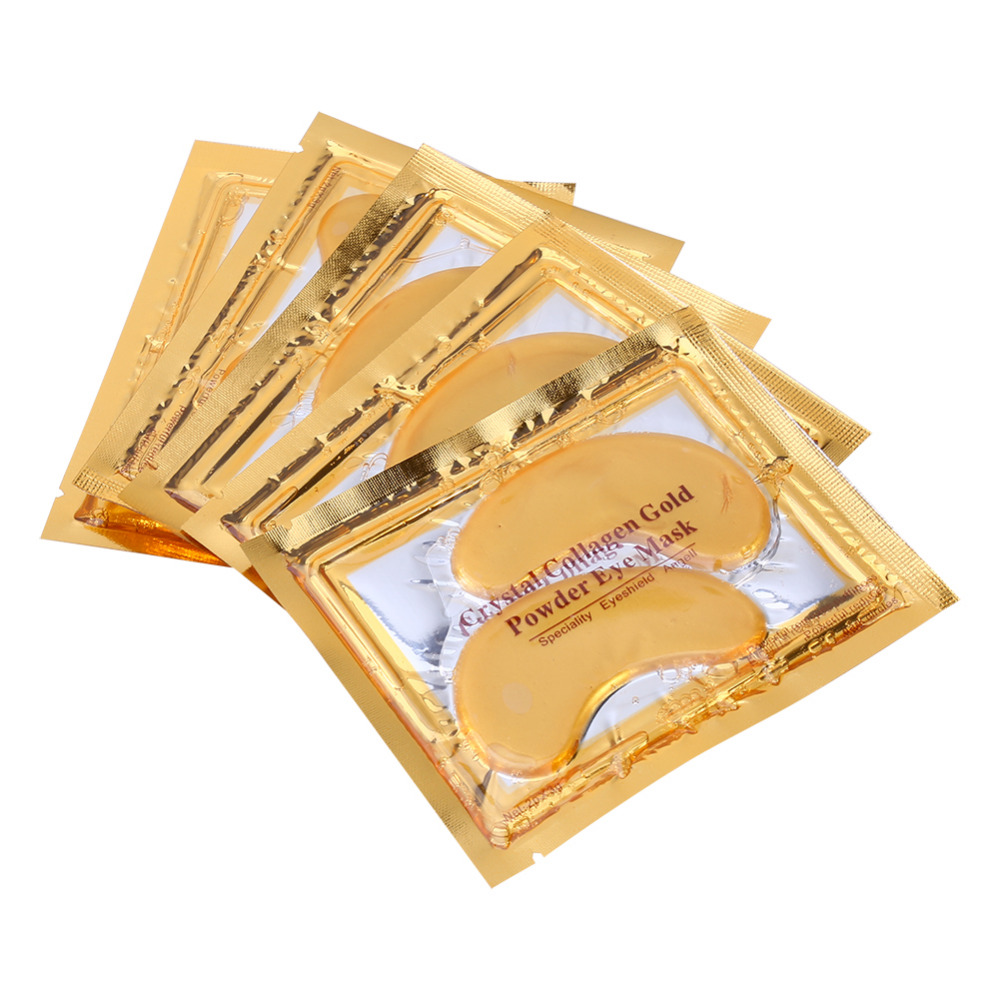 Crystal Collagen Eye Mask Gold Eye Mask Golden Anti-Dark Circle Moisturizing Hyaluronic Acid Eye Mask Anti-Aging