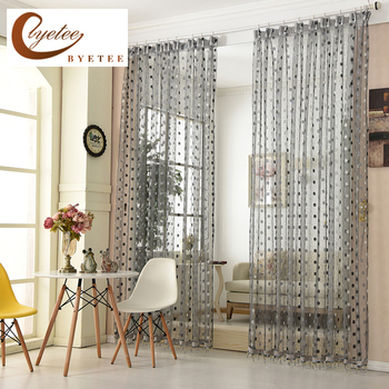 [byetee] Curtain Fabrics Bedroom Window Tulle Voile Kitchen Sheer Organza Luxury Curtains Doors For Living Room Curtain Drapes