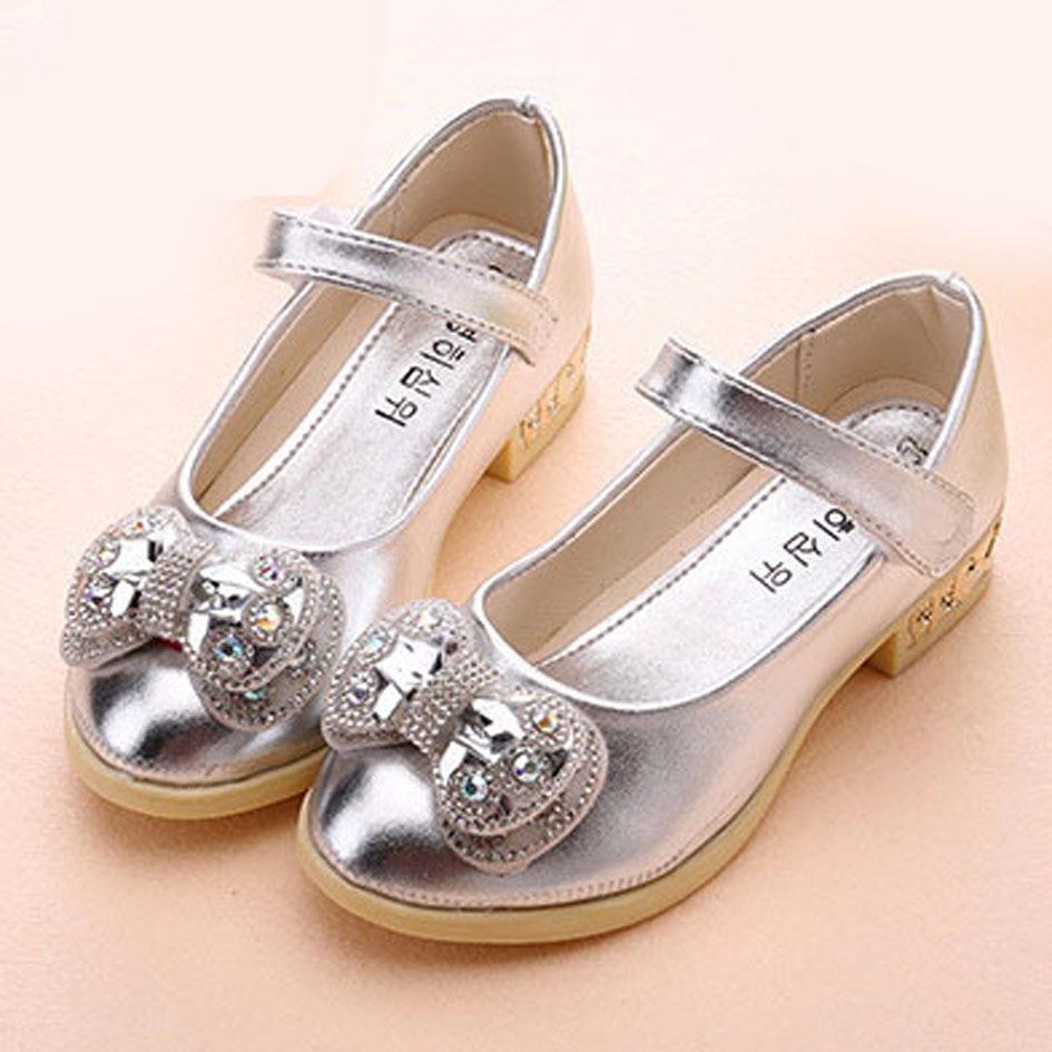 2017 Rhinestone Children s Flats Crystal Kids Girls Ballet Shoes Toddlers Ballerinas Flower Girls Wedding Shoes
