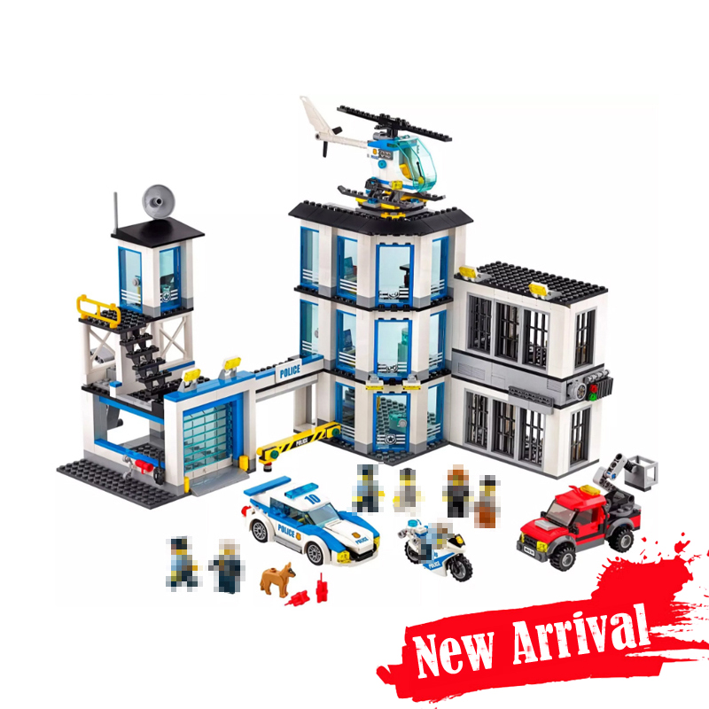 LEPIN City Police Station 02020 965PCS Building Blocks Bricks toys for children gifts brinquedos compatible legoINGly 60141 02020 lepin new city series the new police station set children educational model building blocks bricks diy toys kid gift 60141