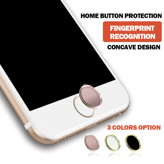 Wonderful Iphone 6 Home Button Design Part - 2: Touch ID Button Aluminum Home Button Sticker Cover For IPhone 6s 6 Plus 5s  With Finger