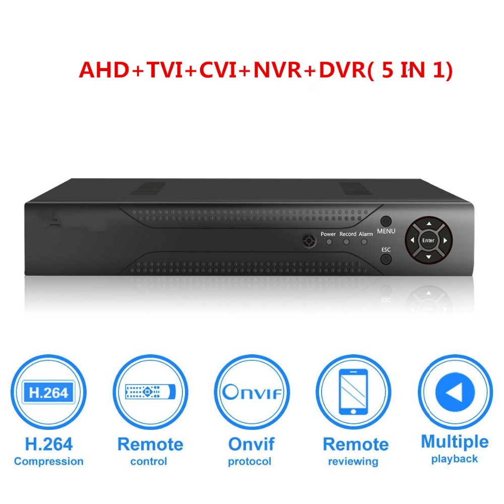 4CH 1080N CCTV DVR Hybrid 5-in-1 H.264 Surveillance Video Record System NO Hard Disk (1080P NVR+1080N AHD TVI CVI +960H Analog)