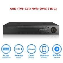 1080N CCTV DVR Hybrid 5-in-1 H.264 Surveillance Video Record System NO Hard Disk (1080P NVR+1080N AHD TVI CVI +960H Analog)