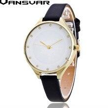 Vansvar Girls Vogue Slim Leather-based Wrist Watch Ladies Informal Quartz Watch Reloje Mujer 2016 Relogio Feminino Present Clock V14