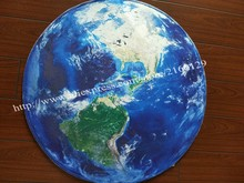 3D Earth Round Carpet Parlor Living Room Mats World Map