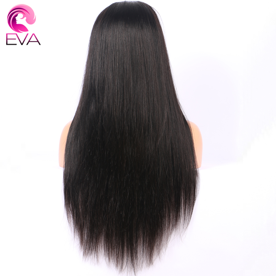 250 Density 360 Lace Frontal Wig Pre Plucked With Baby Hair Straight Brazilian Remy Hair Lace Front Human Hair Wigs Eva Hair