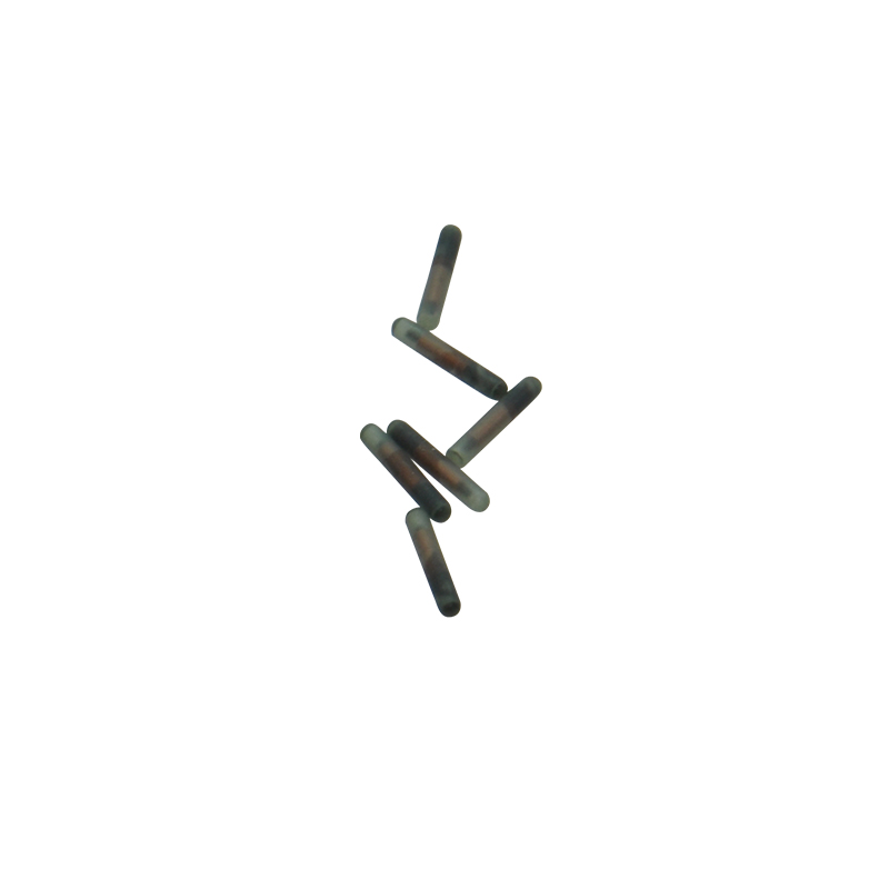 1x RFID capsule glass tag with T5577 chip 2.12*12mm FDX A pet microchip for injection-in IC/ID Card from Security & Protection