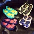 Mini melissa arco sandalias de las muchachas 2017 nuevos niños de los zapatos sandalias de la princesa zapatos de la jalea de melissa zapatos de niños sandalias zapatos de bebé