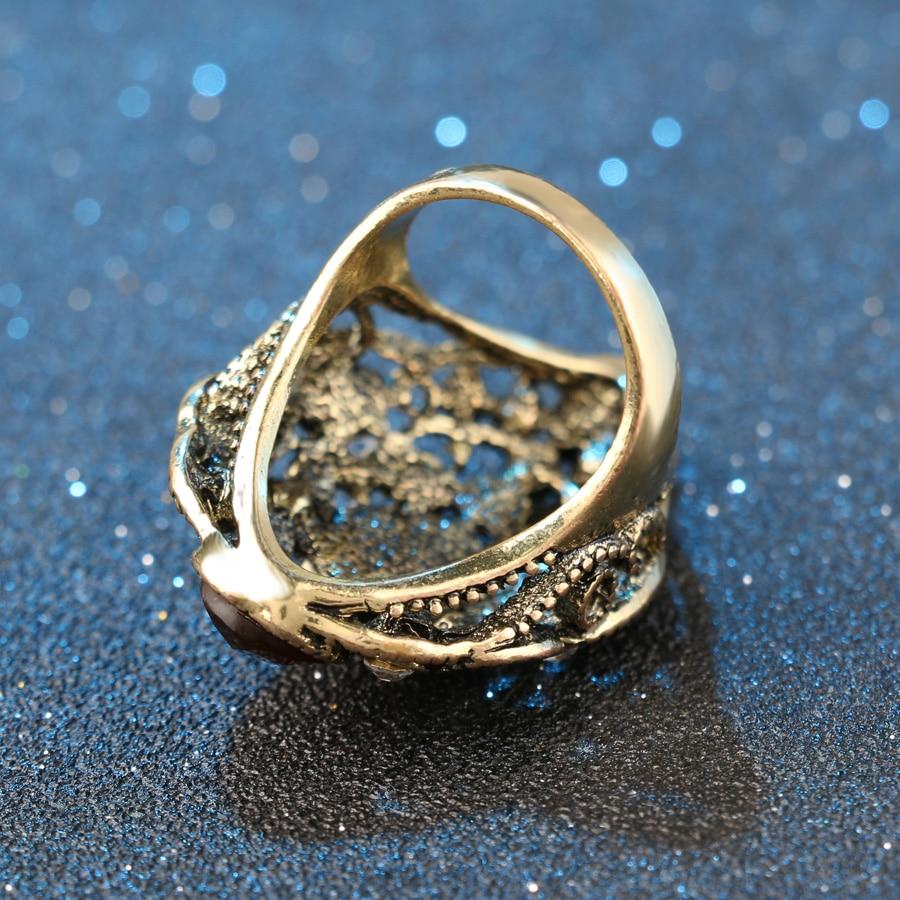 Kinel Fashion Turkey Vintage Nakit Veliki emajlirani prstenovi za - Modni nakit - Foto 6