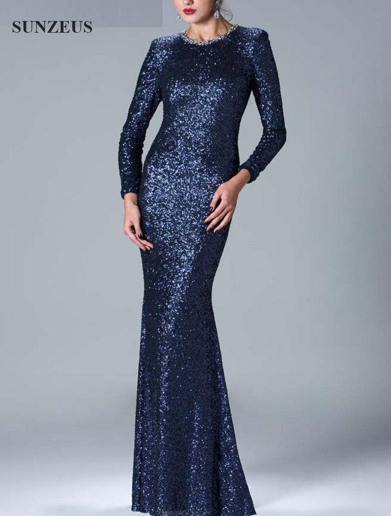 Aliexpress.com : Buy Long Sequin Dress Sheath Long Sleeve Full ...