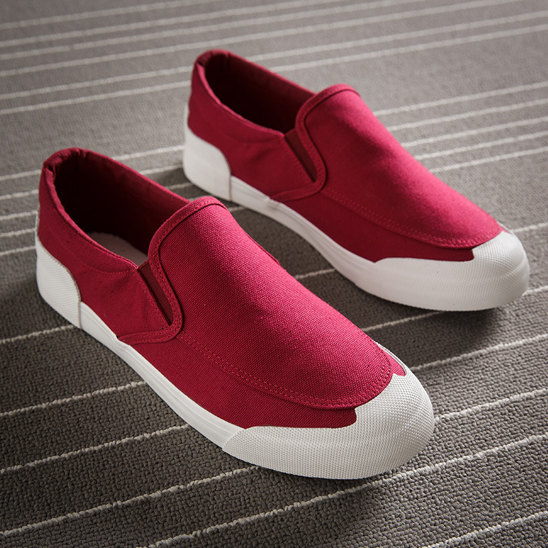 2019 Fashion Men Canvas Shoes Comfortable Mens Casual Low Breathable Moccasins Trainers Chaussure Homme