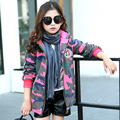 2016 Autumn Winter Fashion Girls Windbreaker Outerwear Coats Warm Jacket Children's Clothing Kids Clothes