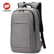 2016 Grey Canvas Men's Backpack Bag Brand High Quality 14.1Inch Laptop Notebook Mochila for Men Waterproof Back Pack