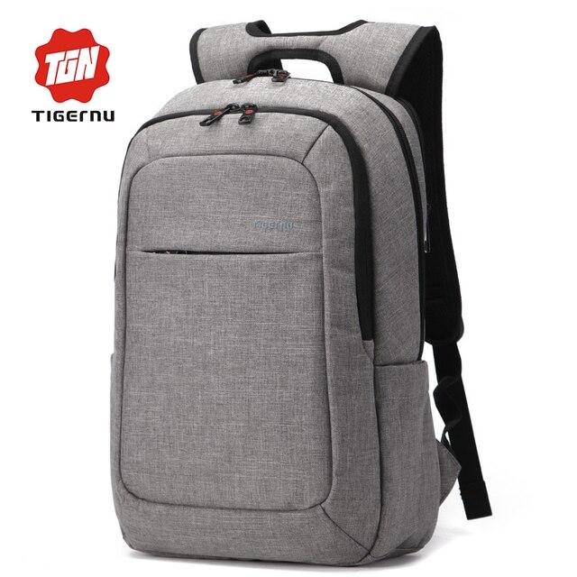2017 Tigernu Canvas Men's Backpack Bag Brand 14.1Inch Laptop Notebook Mochila for Men Waterproof Back Pack school backpack bag