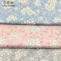 100 Cotton Japanese Style White Floral Twill Cloth DIY For Kids Bedding Clothes Dress Handwork Patchwork
