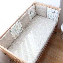 Детские бамперы для автомобиля в кроватку новорожденных Nordic милые туфли-лодочки для девочки с симпатичным с мультипликационным принтом; защита для кроватки для детской комнаты, украшения 30x30 см, 6 шт./партия