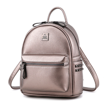 Unstyle свежий элегантный дизайн Учащиеся Рюкзаки Мода для отдыха на молнии с заклепками туристические рюкзаки простой сумки на плечо BP056