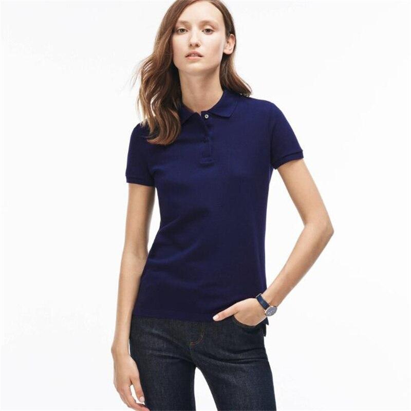 WBC-002 Fashion 2018 Summer lady short sleeve polos shirts casual womens lapel shirts