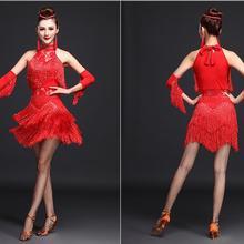 Новинка, платье для латинских танцев для женщин/девочек/леди, Новая Сексуальная бахрома для сальсы/бальных/Танго/румбы/самбы/латинских платьев для танцев