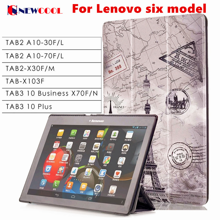 Tab3 10 Plus/ business X70 Tab-X103f Flip Cover For Lenovo Tab 2 Tab2 TB3-X70L TAB3-X70F A10-30 x30 x30f A10-70c tablet Case tab2 a10 70f tempered glass screen protector for lenovo tab 2 a10 70 tab3 x70f x70m tab 10 tb x103f