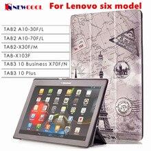 Tab3 10 plus/negocio x70 tab-x103f cubierta del tirón para el lenovo Tab 2 Tab2 TB3-X70L TAB3-X70F A10-30 x30 x30f A10-70c tablet case