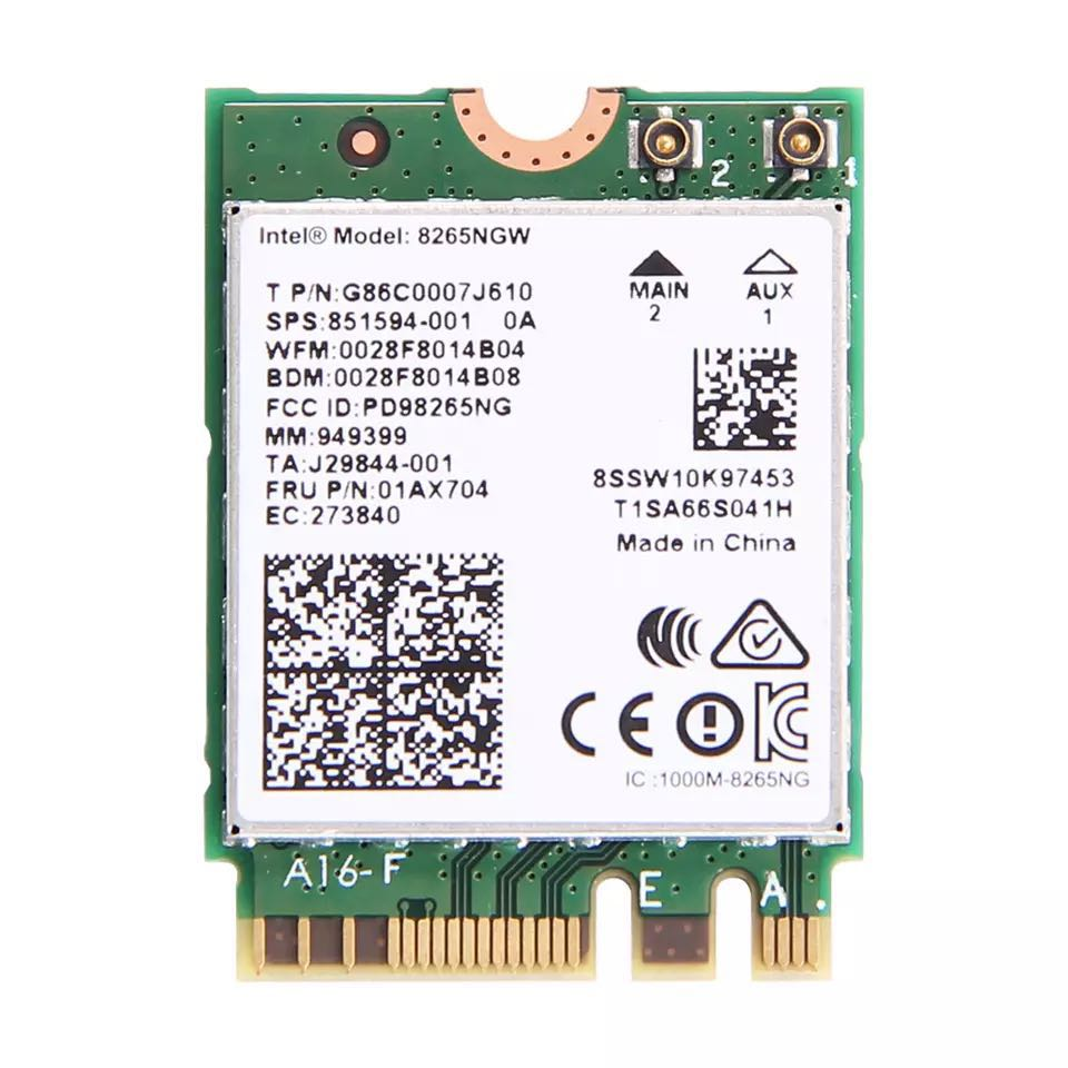 Dual Band 2.4G/5Ghz Wifi Bluetooth Wlan For Intel 8265NGW Wireless AC 8265 NGFF 802.11ac 867Mbps 2x2 MU MIMO WIFI BT 4.2 Card