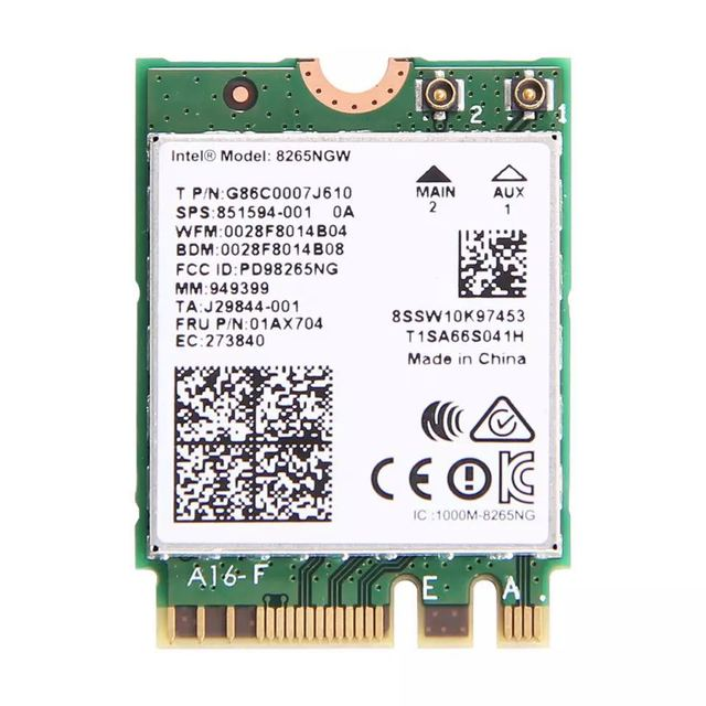 デュアルバンド 2.4 グラム/5 の無線 Lan 、ブルートゥース無線 Lan インテル 8265NGW ワイヤレス AC 8265 NGFF 802.11ac 867 150mbps 2 × 2 MU MIMO WIFI BT 4.2 カード