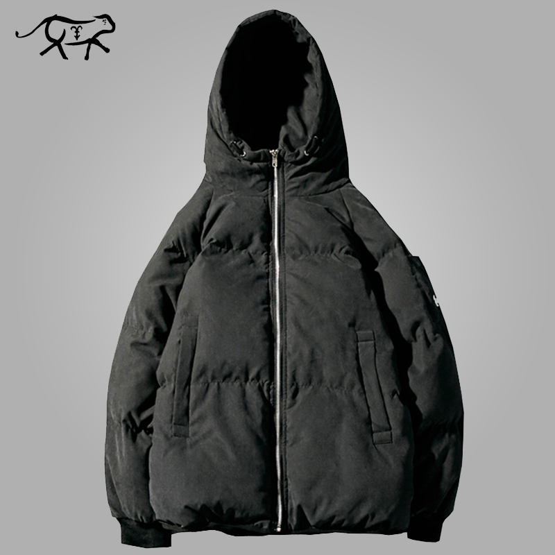Winter Jacket Men Fashion Warm Coat Cotton-Padded Outwear Mens Coats Jacket Brand Hooded Collar Slim Fit Thick   Parkas   Size M-5XL