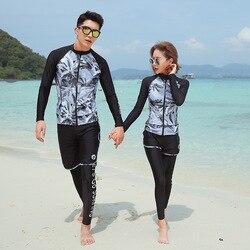 5 pçs/set Natação Surf Rash Guard Manga Longa das Mulheres Zip up Swim Shirt & Leggings Duas Peças Maiô Sol proteção Biquíni