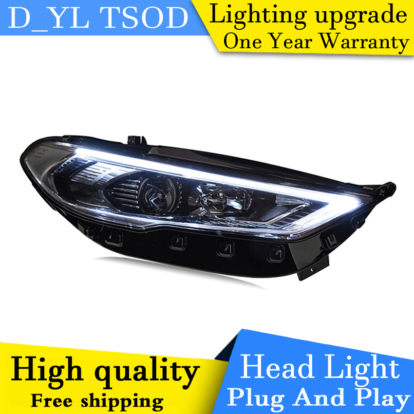 Car Styling for Ford Mondeo 2017 Headlights fusion LED Headlight DRL Hid Bi Xenon Beam Lens