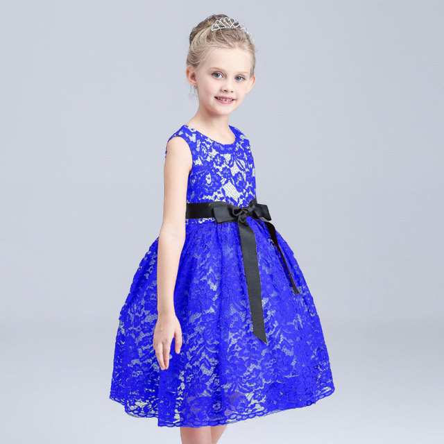 Kanten Cocktailjurk.Children Kids Girl Summer Lace Dress Kinderkleding Meisjes Kinder