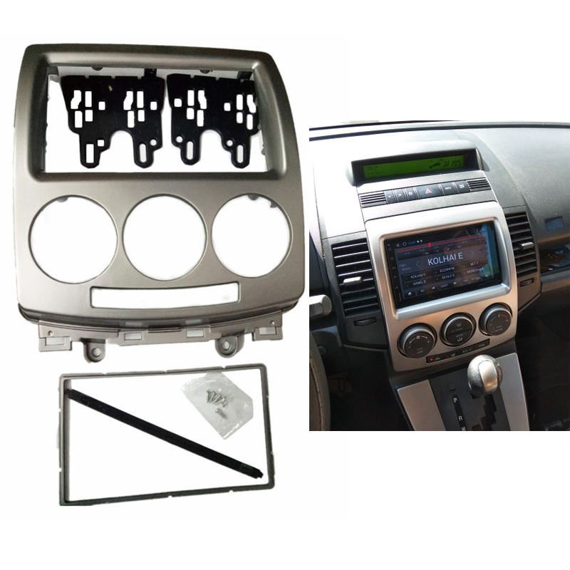 2 Din Radio Fascia fit for FORD i-Max 2007+ MAZDA 5 Premacy 2005+ Audio Stereo Panel DVD CD Trim Kit  Fascia Radio Panel Trim2 Din Radio Fascia fit for FORD i-Max 2007+ MAZDA 5 Premacy 2005+ Audio Stereo Panel DVD CD Trim Kit  Fascia Radio Panel Trim