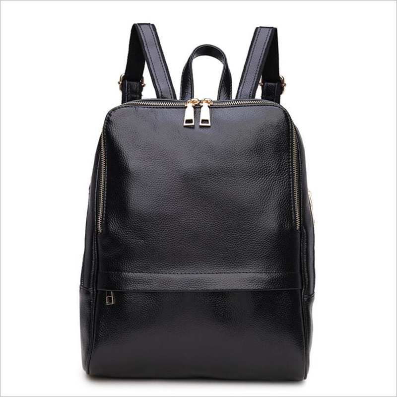 Cattle Split Leather Backpack Woman Patent Leather Woman Backpacks Leather Woman Back Bag Patchwork Woman Bag