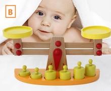 Practical Children s Balance For Children Montessori Materials Toys Professional Wooden Scale Wooden Kitchen Toy WD41